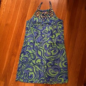 Lilly Pulitzer XS dress, blue and green pattern